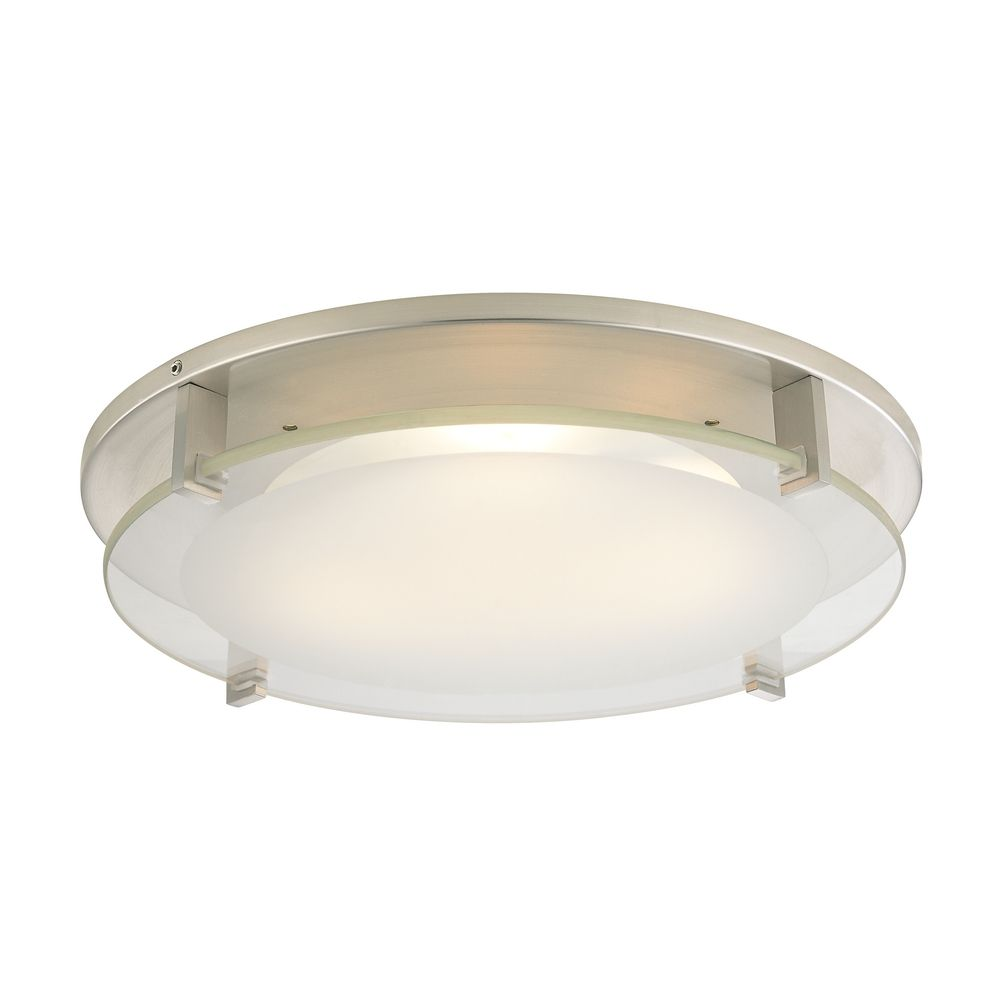modern decorative recessed ceiling light trim with frosted glass