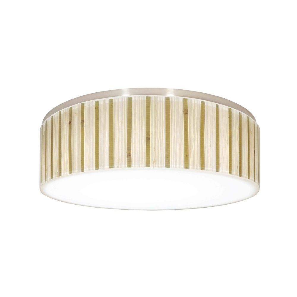 Decorative recessed ceiling light trim with bamboo drum shade aloadofball Images