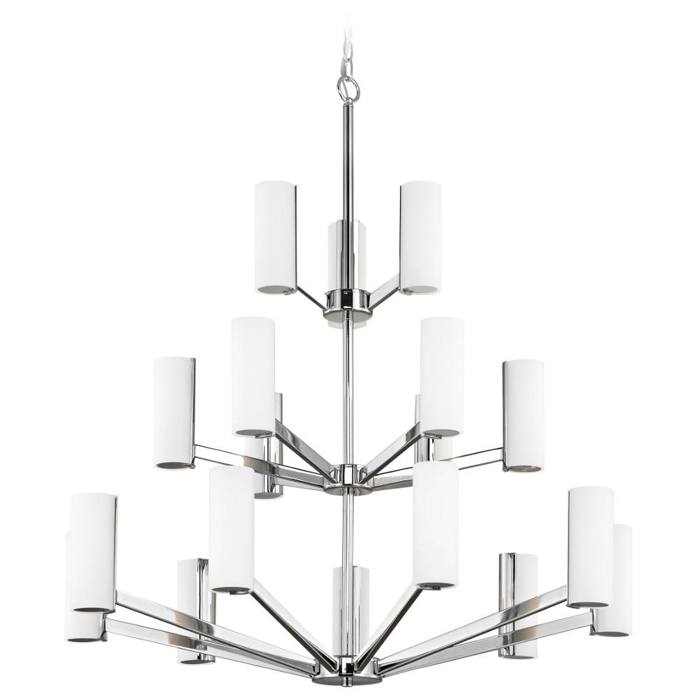 Radiance Eighteen Light Three-Tier LED Chandelier