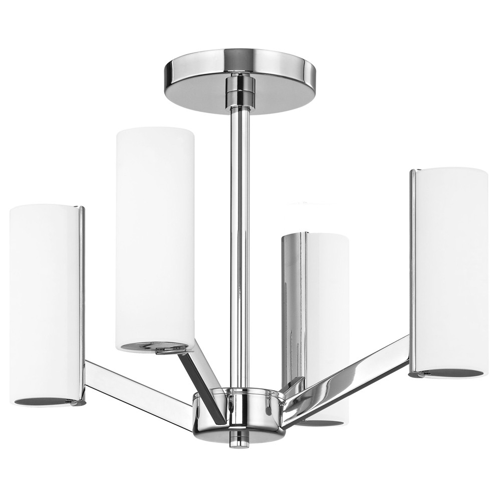 Radiance four light convertible led ceiling fixture