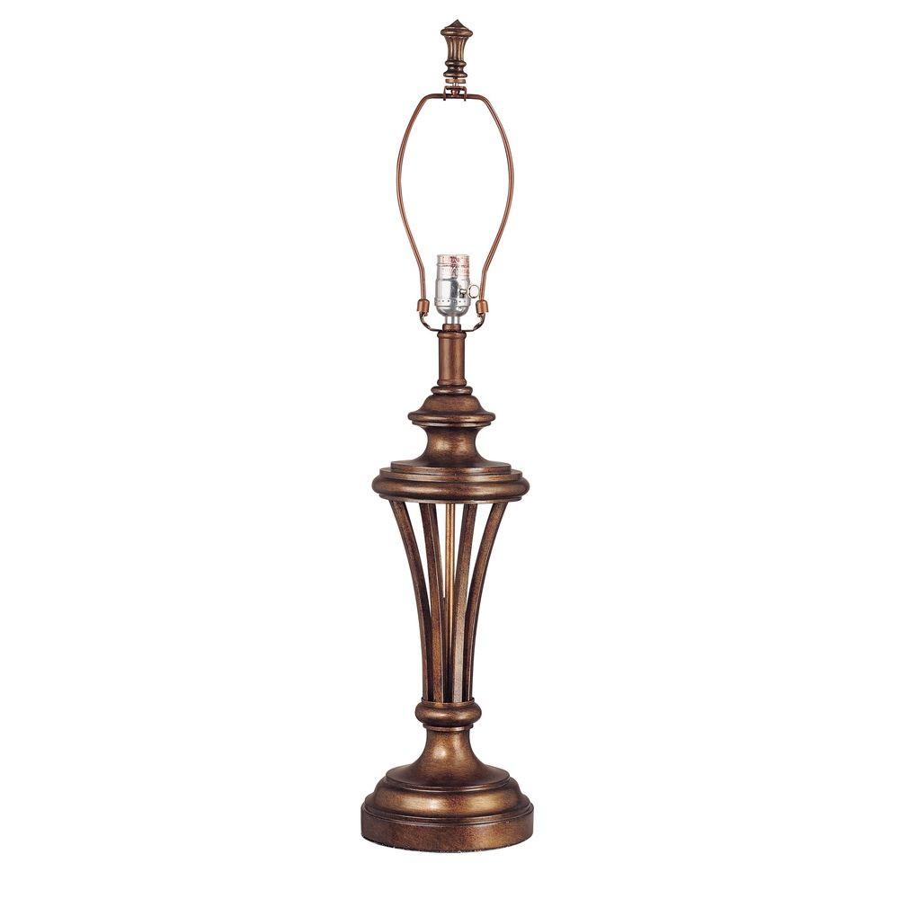 Sienna Finish Lamp Base