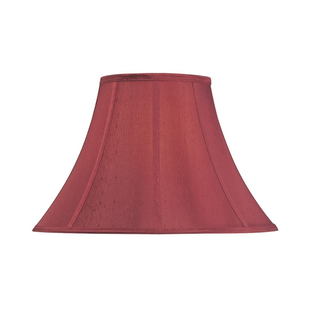 Red Bell Lamp Shade with Spider Assembly