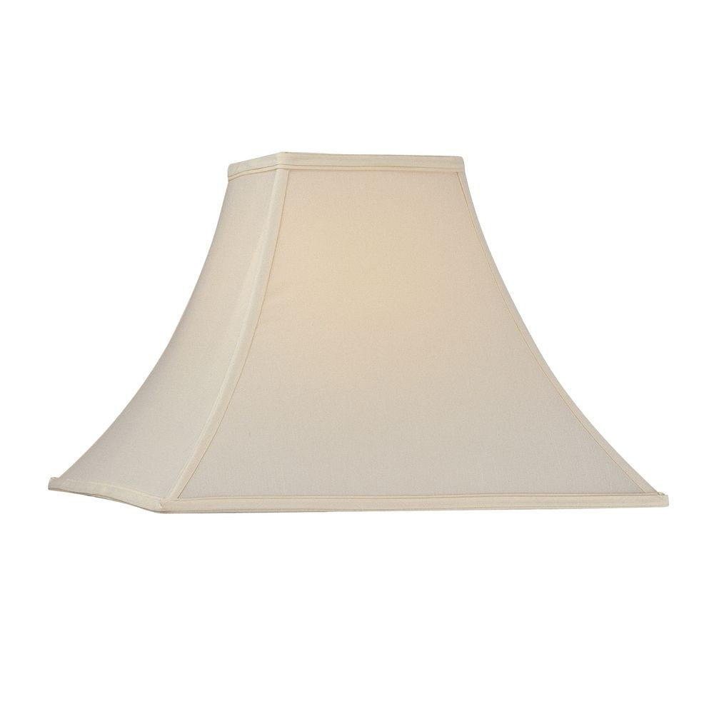Square Flare Lamp Shade with Soft Back and Piping