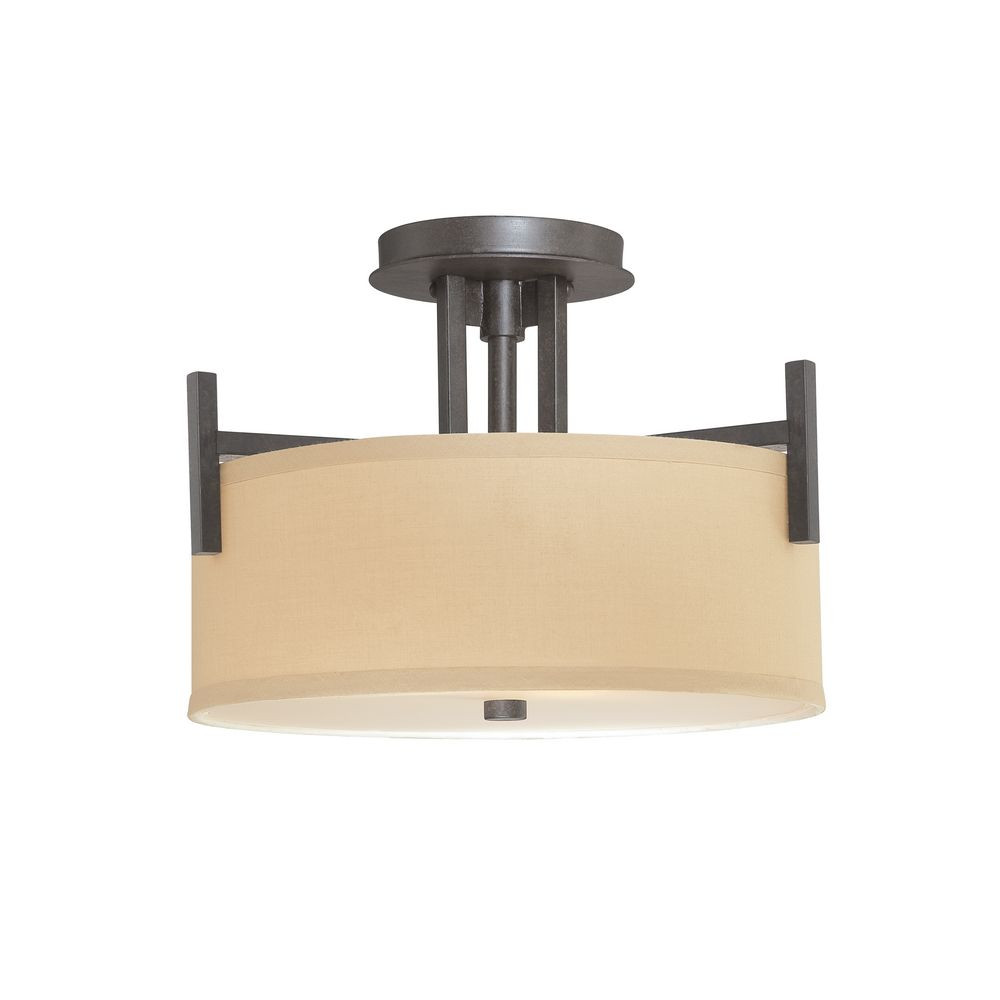 Tecido Semi Flush Ceiling Light
