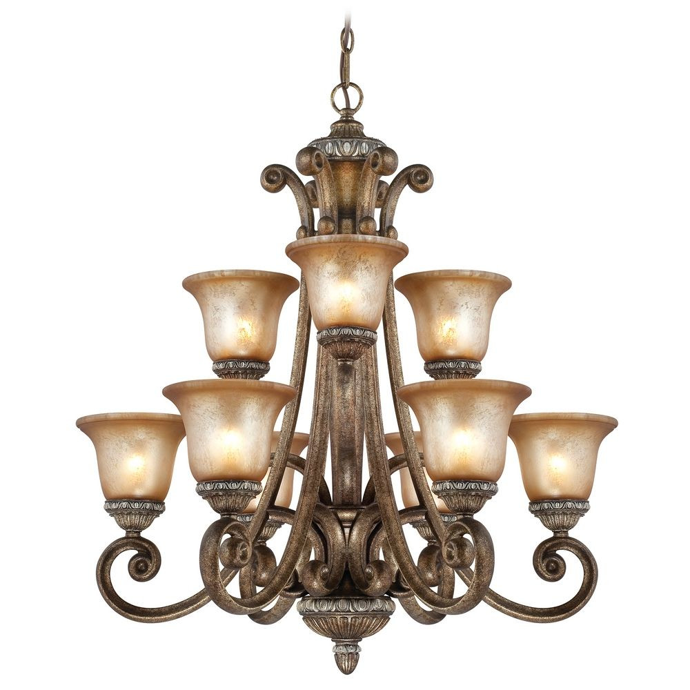 Carlyle Nine Light Two-Tier Chandelier