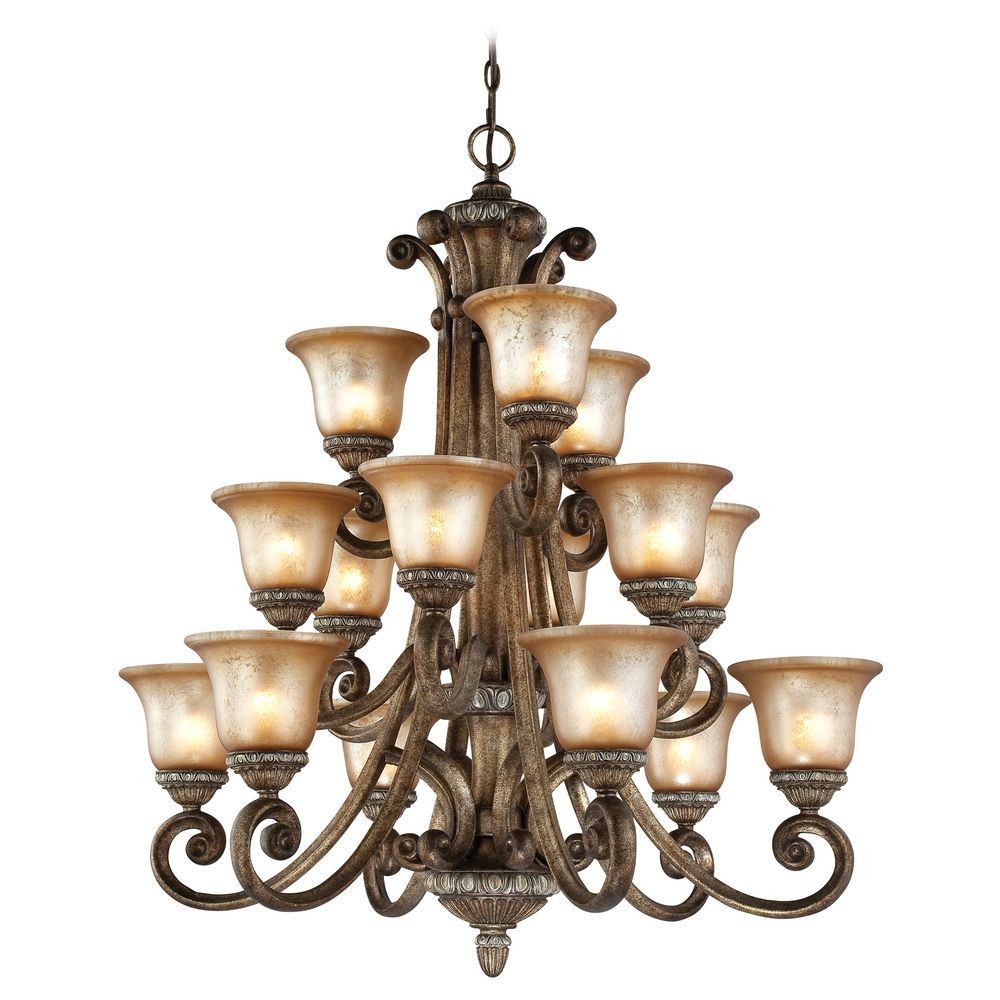Carlyle Fifteen Light Three-Tier Chandelier