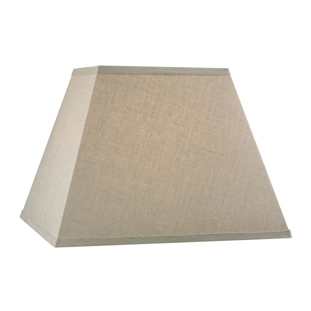 Beige Square Lamp Shade With Spider Embly