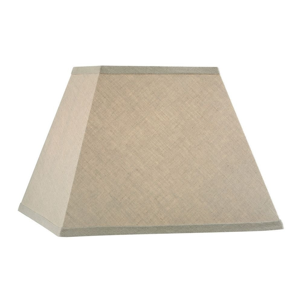 Beige Square Lamp Shade with Spider Assembly
