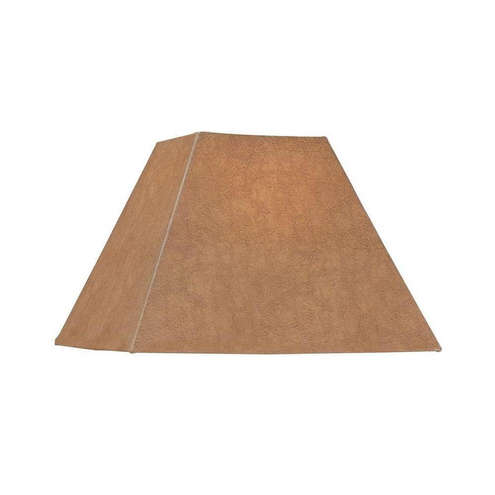Faux Leather Square Lamp Shade