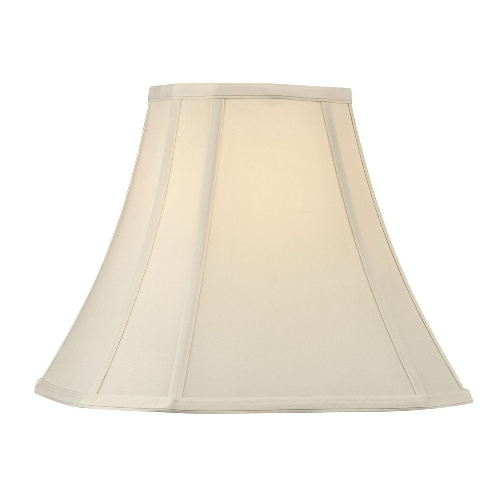 Eggshell Silk Cut Corner Lamp Shade with Spider Assembly