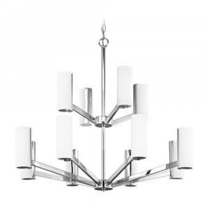 Radiance Twelve Light Two-Tier LED Chandelier