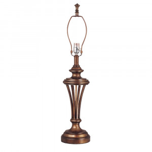 Sienna Finish Lamp Base