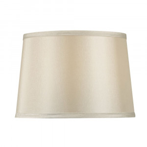 Beige Hardback Drum Lamp Shade with Spider Assembly