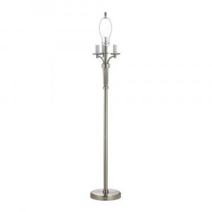 Three-Way Floor Lamp in Satin Nickel Finish