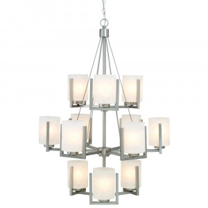 Uptown Twelve Light Three-Tier Chandelier