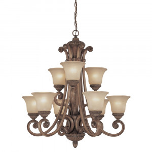 Carlyle Nine Light Chandelier
