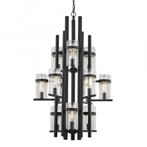 Cortona Twelve Light Three-Tier Chandelier