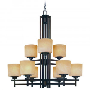 Roxbury Nine Light Two-Tier Chandelier