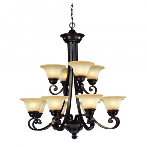 Brittany Twelve Light Two-Tier Chandelier