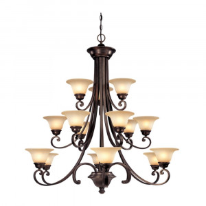 Brittany Three-Tier 15 Light Chandelier