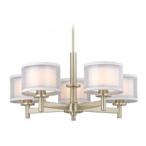 Double Organza Five Light Chandelier