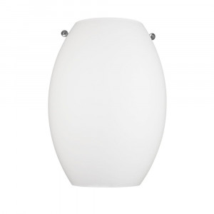 Satin White LED Sconce