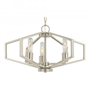 Hexagon Three Light Pendant Light