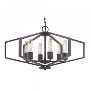 Hexagon Six Light Pendant