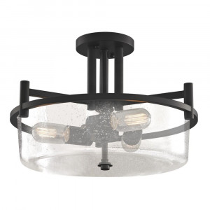 Cortona Three Light Semi-Flushmount Ceiling Light