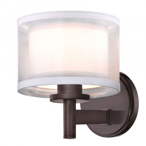 Double Organza One Light Wall Sconce