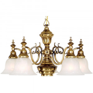 Richland Six Light Chandelier with Halogen Downlight