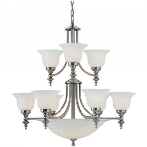Richland Twelve Light Two-Tier Chandelier