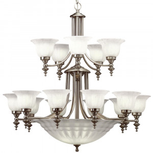 Richland Eighteen Light Two-Tier Chandelier