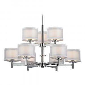 Double Organza Nine Light Two-Tier Chandelier