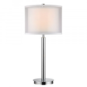 Double Organza 3-Way Chrome Table Lamp