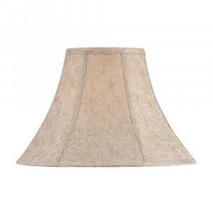 Light Brown Bell Lamp Shade with Spider Assembly