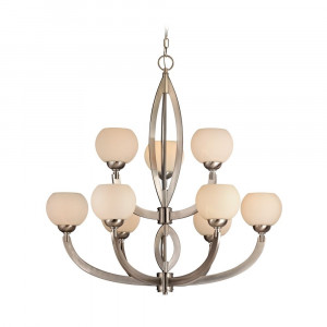 Odyssey Nine Light Two-Tier Chandelier
