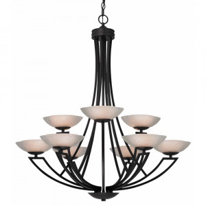 Delany Nine Light Two-Tier Chandelier