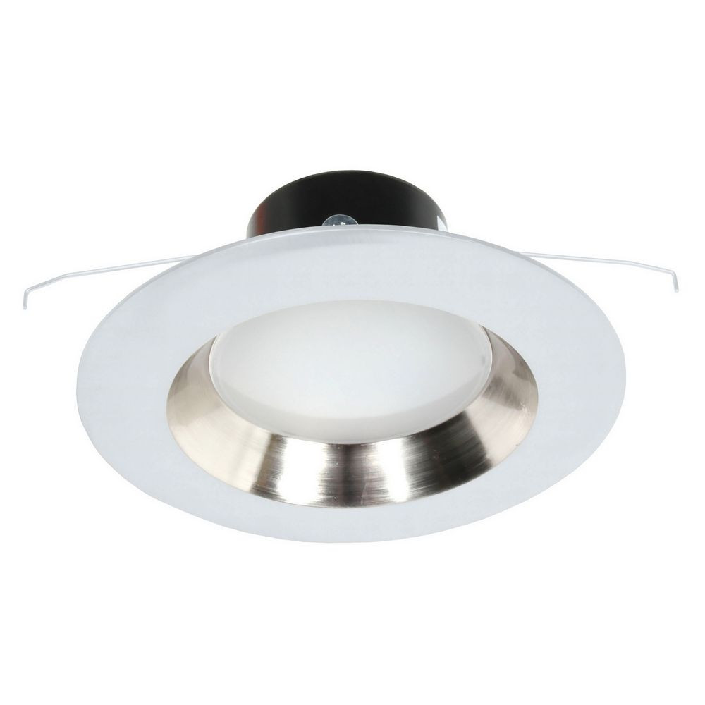 6 Inch Par30 Adjustable Gimbal Ring Trim White Recessed: Dimmable LED Retrofit Adjustable Eyeball Recessed Light Module