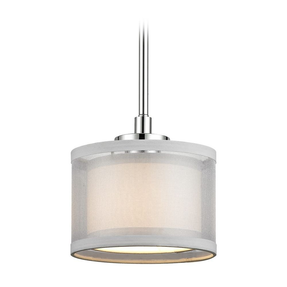 Modern mini pendant light with white shade mozeypictures Gallery