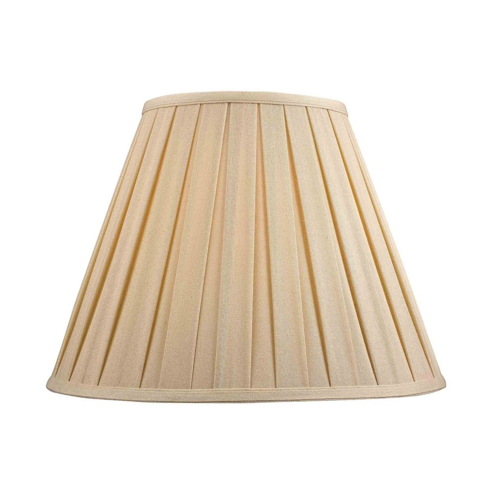 Pleated lamp shade in dark beige fabric aloadofball Choice Image